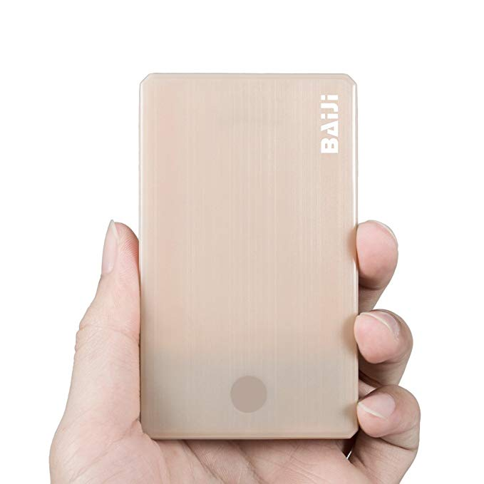 Mini Power Portable Cellphone Charger - Compact 2500mAh 1-Port Ultra Slim Power Bank for iPhone 6 plus, 5s, 5, 4s Samsung Galaxy S7 S6 (Gold)