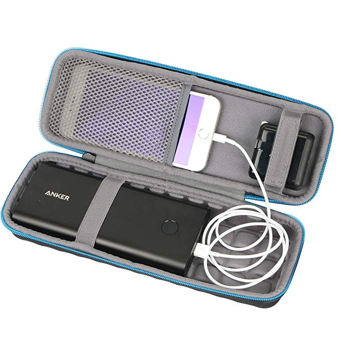 For Anker PowerCore 26800 Portable Charger 26800mAh External Battery Power Bank Hard Case by Baval. Fits USB Calbe,Wall Charger and Car Charger