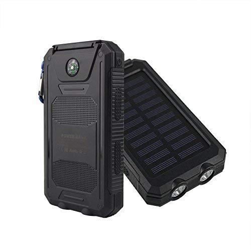 iMeshbean Waterproof Solar Power Bank 30000mAh Portable External Battery Charger NEW