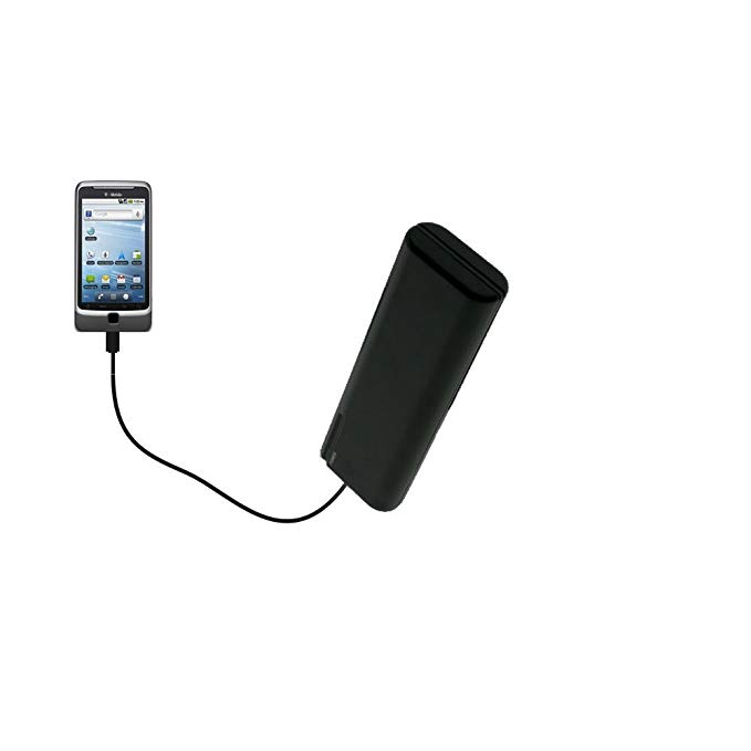 Gomadic Portable AA Battery Pack designed for the T-Mobile G2 - Powered by 4 X AA Batteries to provide Emergency charge. Built using TipExchange Technology
