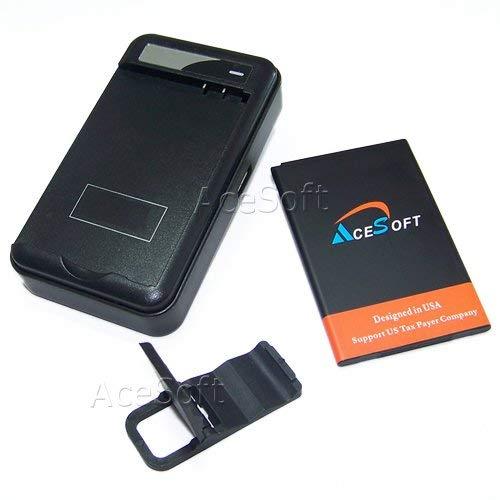 Hi-Capacity Extended Slim Grade A+ 2950mAh Battery Intelligent Travel USB Charger Bracket for MetroPCS LG K20 Plus MP260 USA