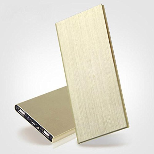 XYD Ultra-thin 20000mah Portable Charger Battery Power Bank for Iphone (Gold)
