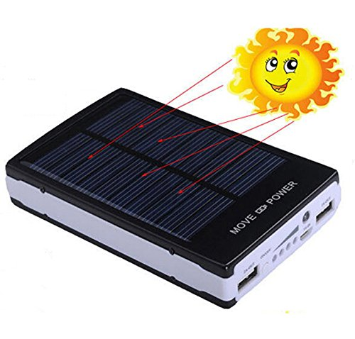iMeshbeanPortable Dual USB Solar Battery Charger Power Bank 50000mAhPhone Charger for Emergency Cell Phones Tablet Camera