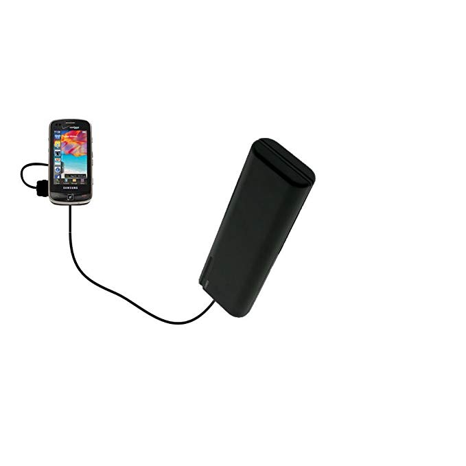 Gomadic Portable AA Battery Pack designed for the Samsung Rogue - Powered by 4 X AA Batteries to provide Emergency charge. Built using TipExchange Technology
