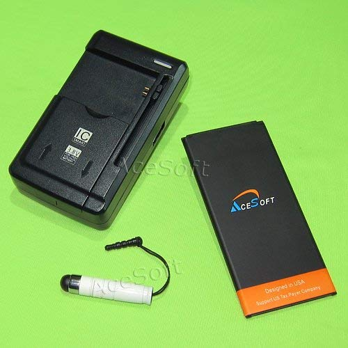 AceSoft 3900mAh Standard Battery Universal External Dock Home USB Charger Stylus for AT&T/Net10 Samsung Galaxy Mega 2 SM-G750A Phone - Brand New