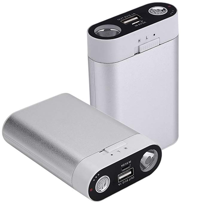 Ewarmer Hand Warmers/Power Bank 7800mAh, Rechargeable Hand Warmer, 7800mah Portable USB Hand Warmer/Power Bank 7800, Portable Battery Charger with LED Flashlight for iPhone 7/7 Plus