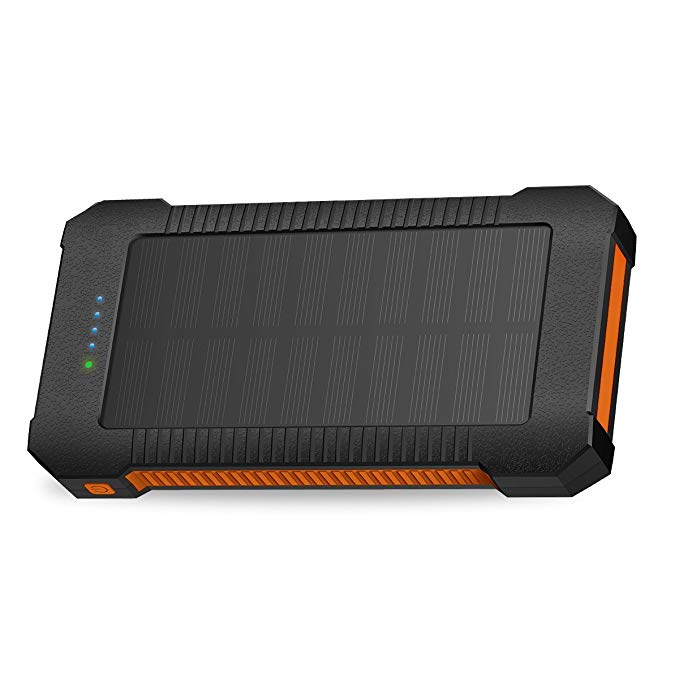 Solar Power Bank Solar Charger 22000mAh Fast Charging Portable Phone Charger with Solar LED Light Android 3A+Type-C 3A Waterproof Dustproof Anti-Shock Cellphone Charger Large Capacity External Battery