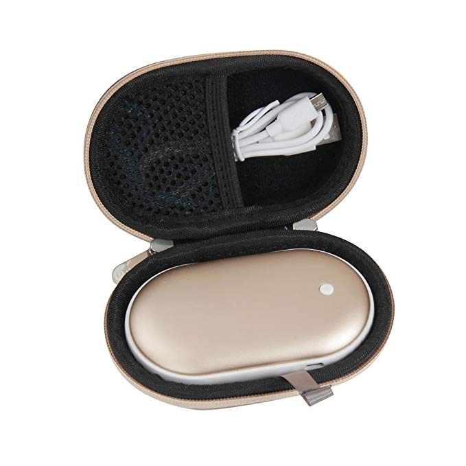 Hard EVA Travel Case for Osunlin 5200mAh Portable Pebbles Double-Side Rechargeable Hand Warmer Power Bank by Hermitshell