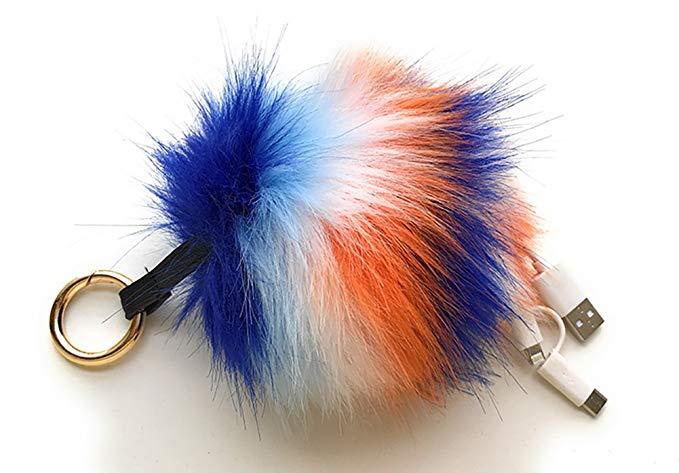Portable Handmade fur mobile power bank