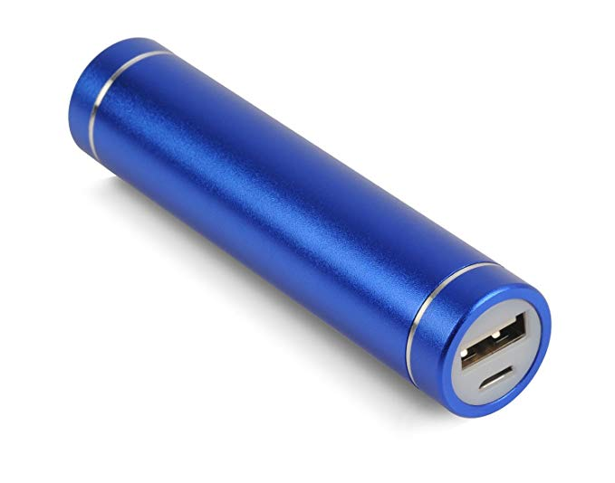 Cyberguys Mini Lipstick-Sized Portable Charger (Premium Aluminum Case Power Bank) Most Compact External Battery, Uses Industry Standard 18650 Lithium-Ion Cell,
