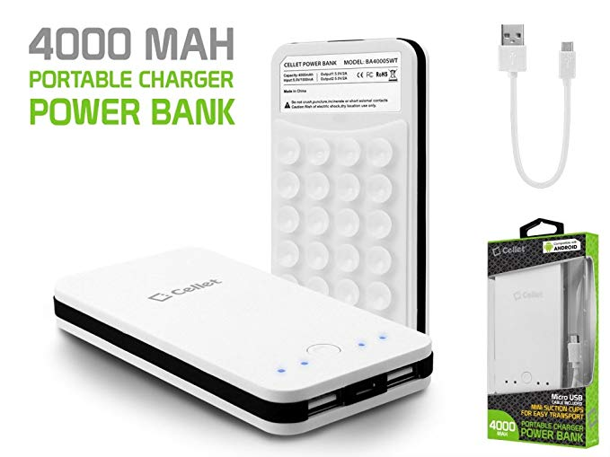 Motorola Moto Z Force Droid USB Type-C Power Bank Dual USB Ports 4000ma White With USB Type-C Adapter