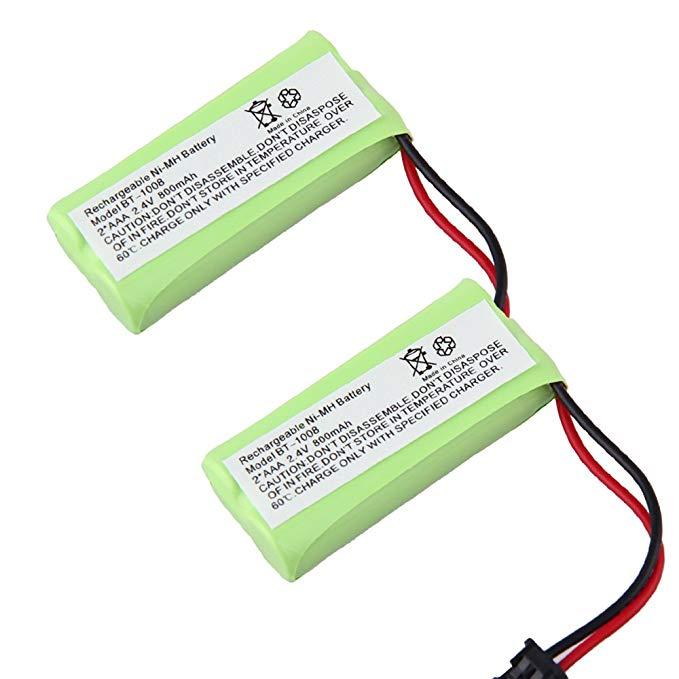 Generic 2 Pack 800mAh Cordless Phone Battery for Uniden DCX200, DECT 2060 BT-1008 BT-1008S, BT1008S, BT-1016, BT1016 WITH43-269 BBTG0645001, BBTG0734001 Compatible for Uniden DECT2080 DECT2080 DECT2080-2 DECT2080-2 DECT20802 DECT20802 DECT2080-2W DECT2080-2W DECT20802W DECT20802W DECT2080-3 DECT2080-3 DECT20803 DECT20803 DECT2080-5 DECT2080-5 DECT20805