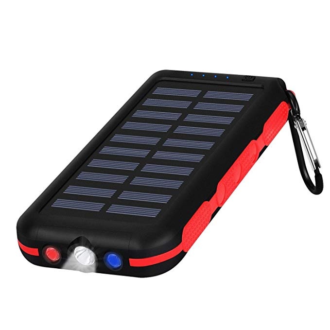 Portable Charger Power Bank Solar Charger 25000Mah Waterproof Batter Pack for Tablet & Cell Phone & More