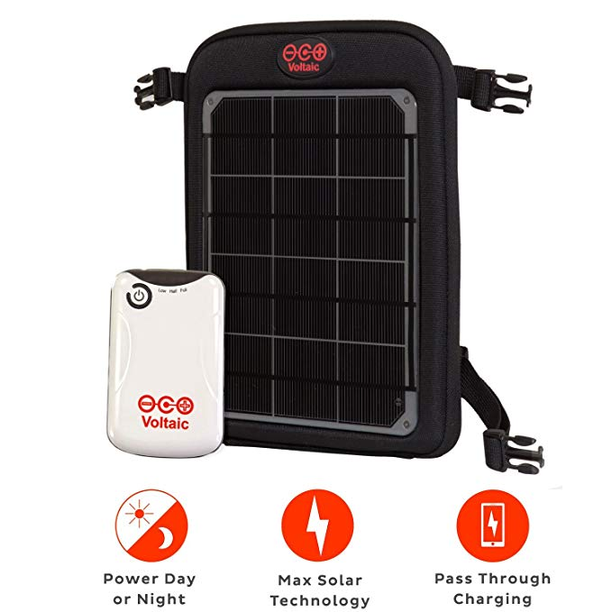 Voltaic Systems Fuse 6W Portable Solar Charger with Battery Pack (4,000mAh) - Silver