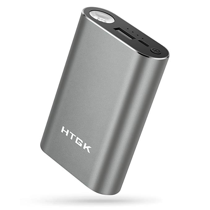Portable Charger Battery Backup, 10050mAh External Battery Fast Charging with 190lm LED Flashlight, Ultra Compact Power Bank for iPhone, Samsung and More