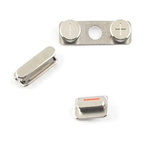 Generic Complete Side Button Power Volume Mute Switch Key Set for Iphone 4s 4gs