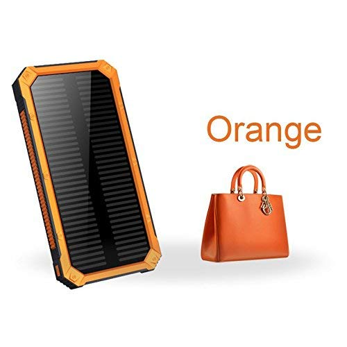 iMeshbean Solar Charger,15000mAh Portable Dual USB Solar Power Bank External Battery Pack Waterproof with Flashlight for Cell phone,iPad,iPhone,Samsung,Android,Windows Smartphones Tablet Camera