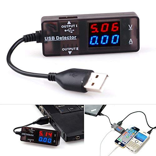 USB Charger Cable Doctor Cellphone Current Voltage Detector Tester Meter for Power Bank