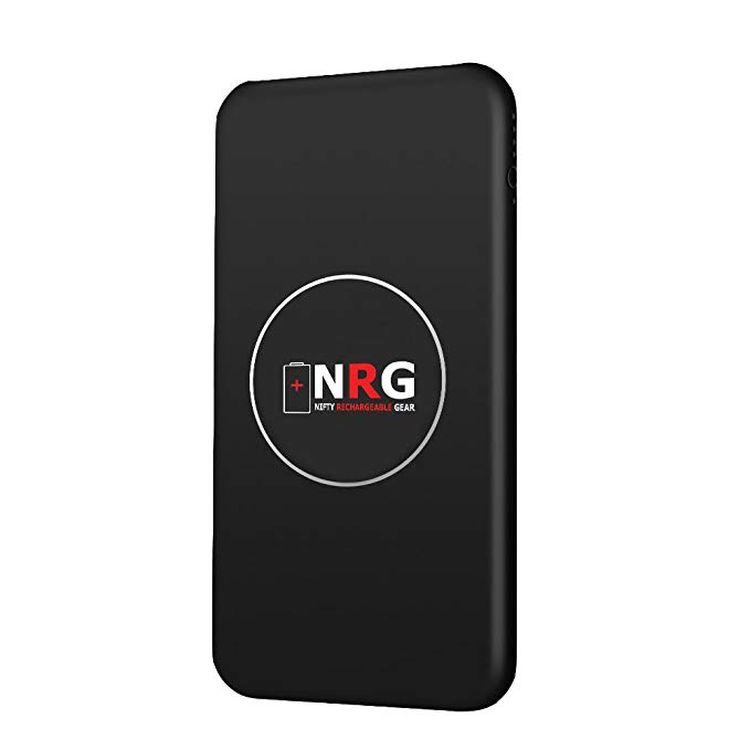 Nifty Rechargeable Gear - The Lifesaver - 10000 mAh High Capacity Wireless and Wired Portable Battery Pack for Mobile Devices