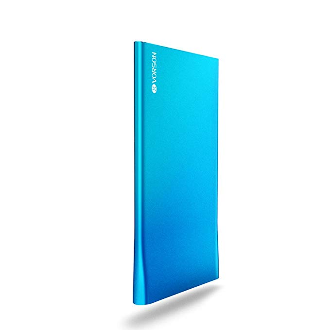VORSON Bookmark-2500 Power Bank 2500mAh USB 1A(Max) Output Portable Charger, Worlds Thinnest (4.7mm) Portable Power Pack Charger, Appearance of fashion with high capacity of battery pack for iPhone 4S 5S 5C, iPad, Nexus 7 10, Galaxy S4 S3 Tab 3 2,Andorid Smartphone, 5V Tablets, Bluetooth Speakers Etc. -- Blue