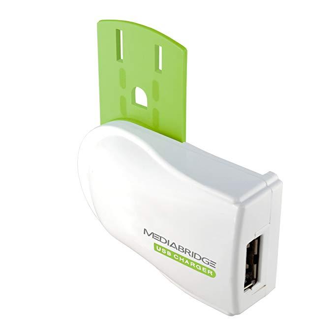 Mediabridge USB Charger - Plug-Free Portable Flip Charger for Phone 5S / iPhone 5C / iPhone 5 / iPhone 4S / iPhone 4 / iPad Mini - (Part# PEC-USB1 )